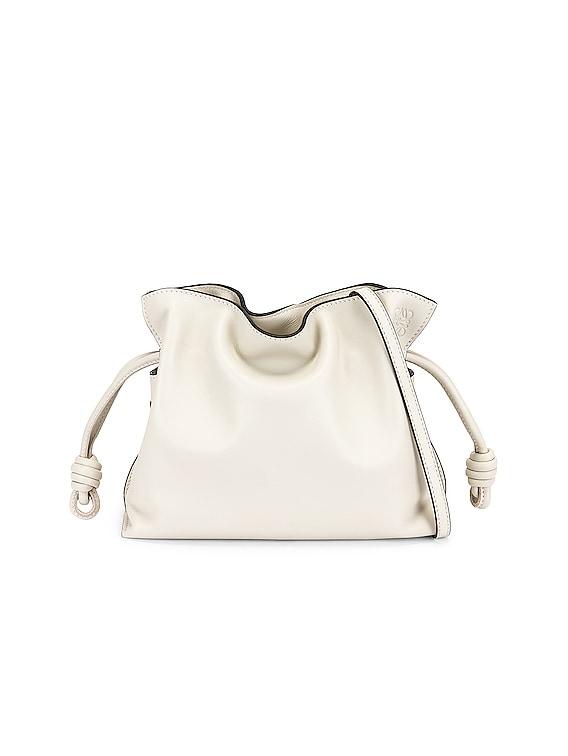 Flamenco Clutch Mini Bag in Soft White