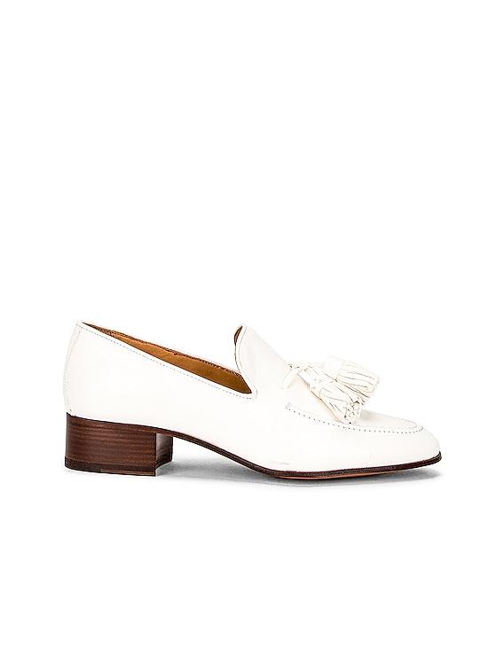 Pompon 40 Loafer in White