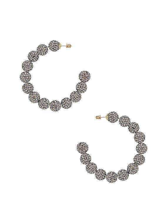 Stardust Crystal Hoop Earrings in Black Diamond