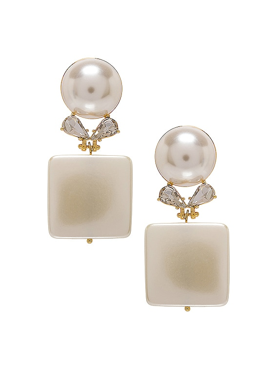 Stone Starlet Earrings in Pearl