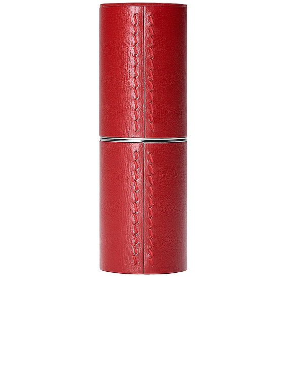 Refillable Leather Case in Red