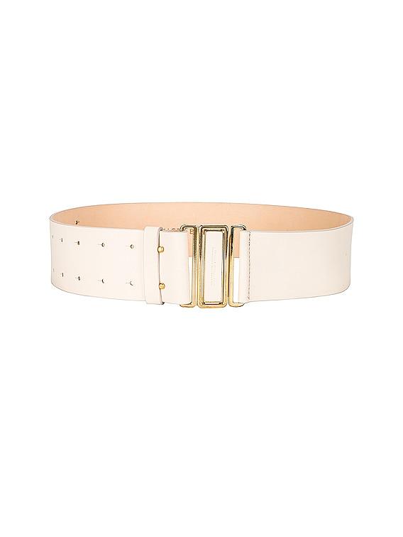 Double Punctured Belt in Cream