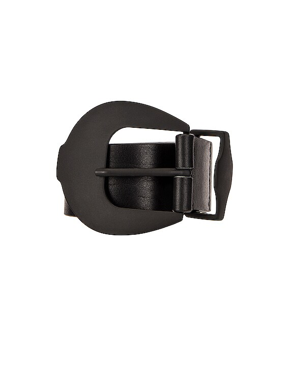 Matte Buckle Belt in Black