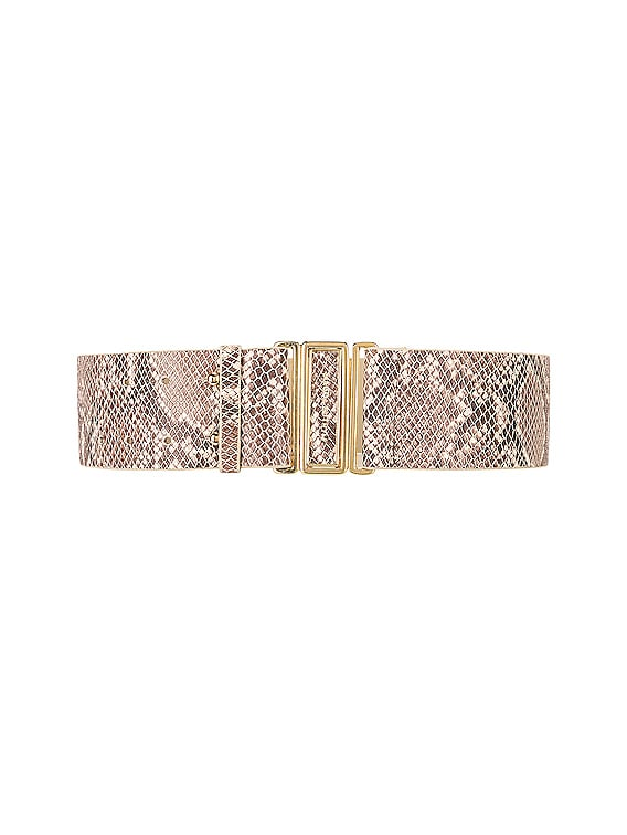 Double Punctured Belt in Natural