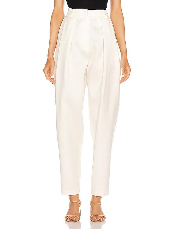 Shaldon Pleated Pants in Cream