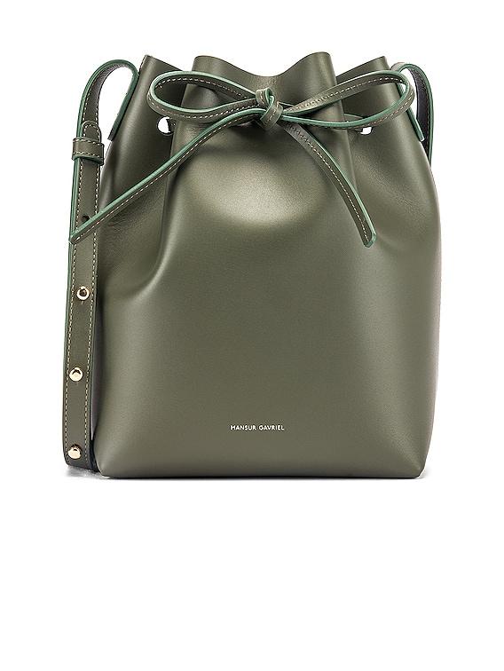 Mini Bucket Bag in Leaf