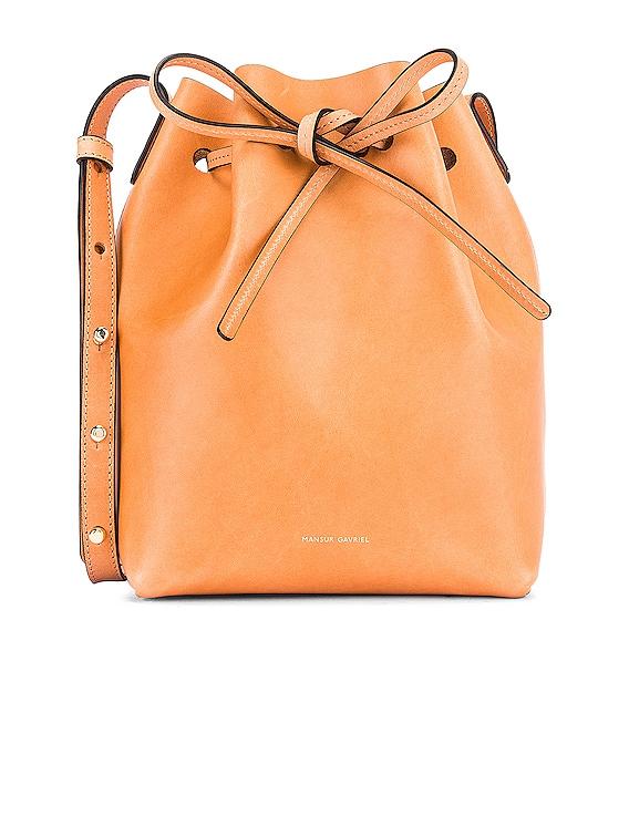 Mini Bucket Bag in Cammello