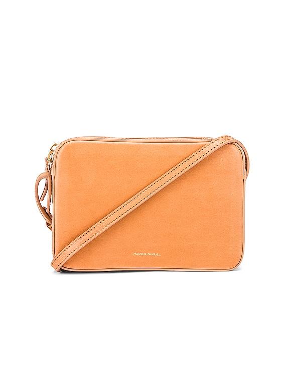 Double Zip Crossbody Bag in Cammello