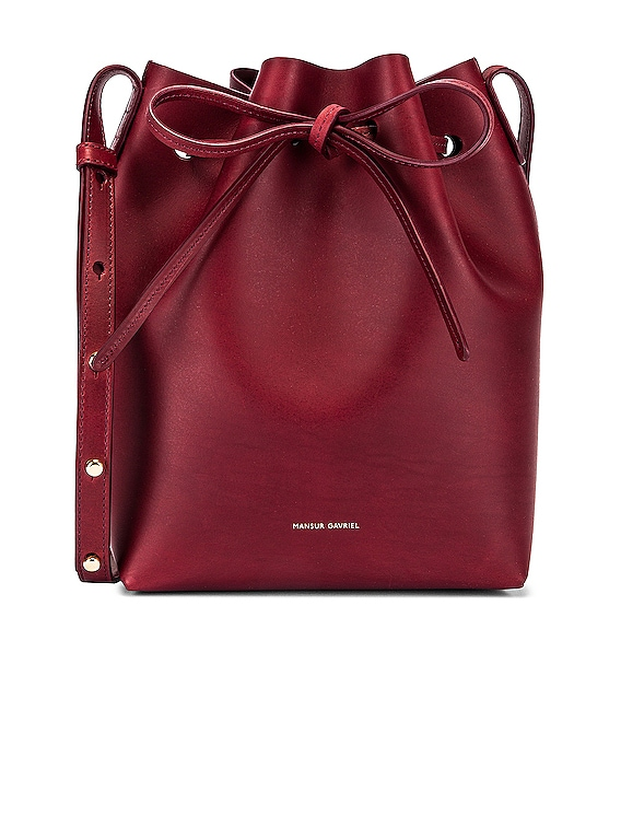 Mini Bucket Bag in Bordo