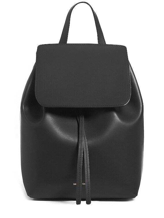 Coated Mini Backpack in Black & Flamma