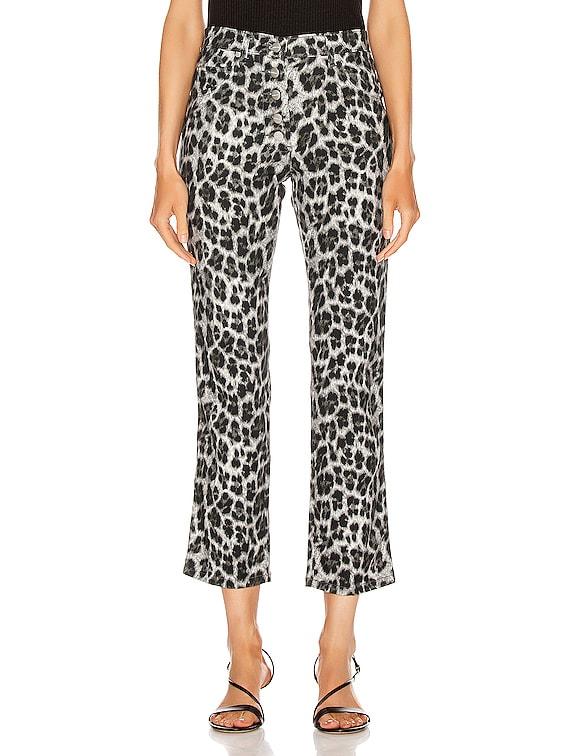 Junior Pant in Grey Leopard