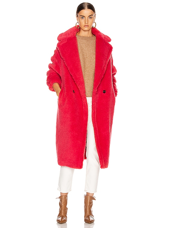 Teddy Tedgirl Coat in Coral