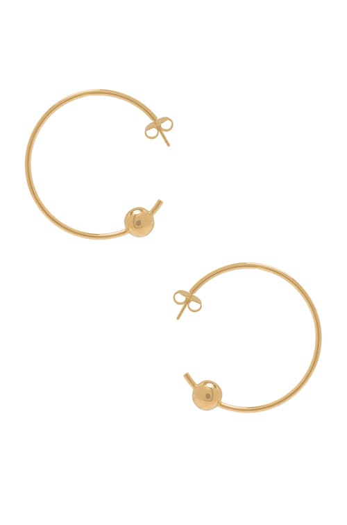 Orion Maxi Hoop Earrings in Gold