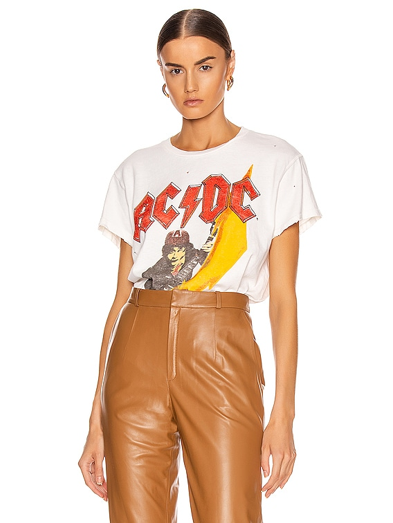 ACDC High Voltage Crew Tee in Off White