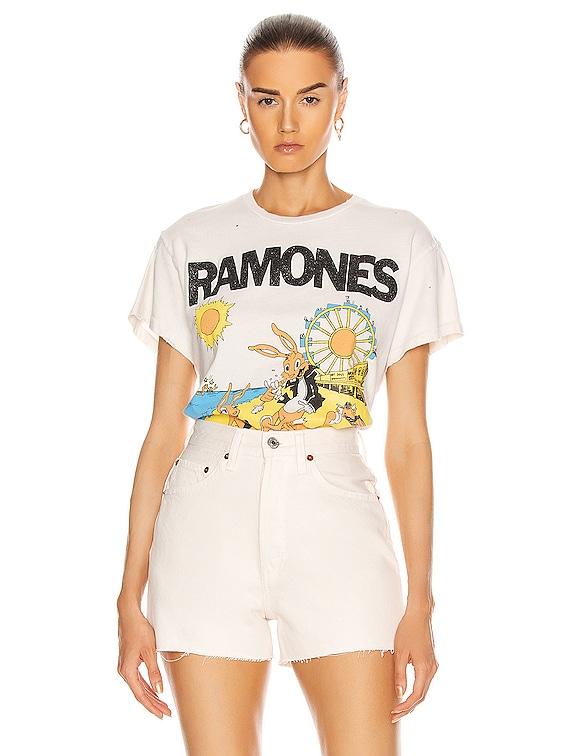 Ramones Rockaway Beach Tee in Off White