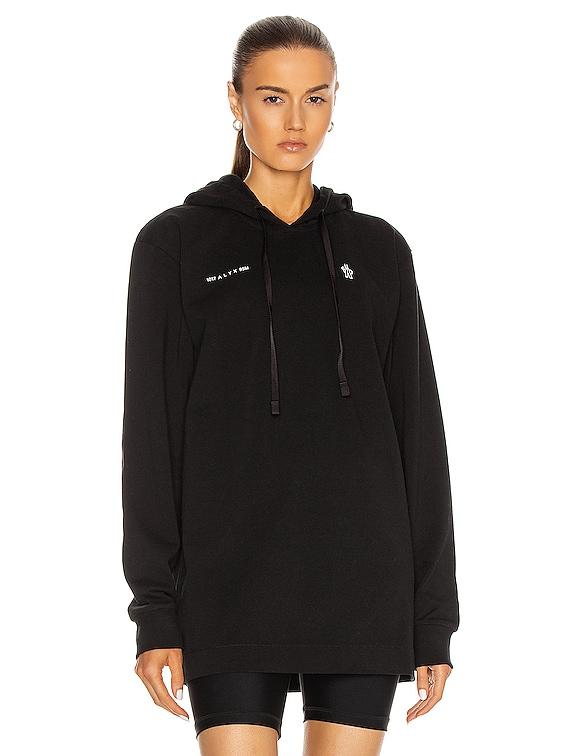 Moncler Alyx Double Logo Hoodie in Black