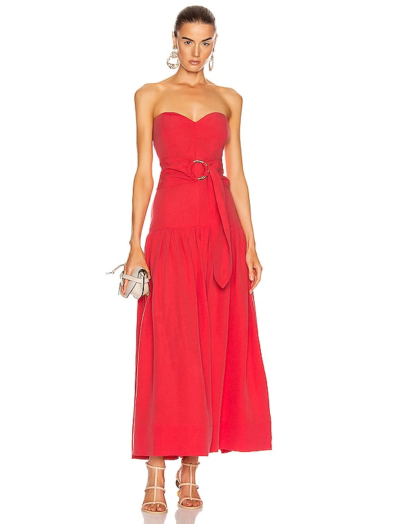 Augustina Dress in Red