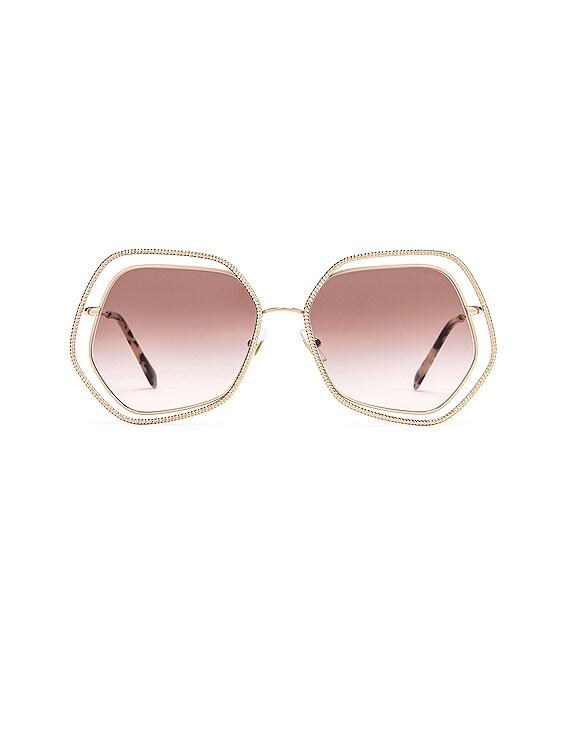 La Mondaine Sunglasses in Gold & Brown