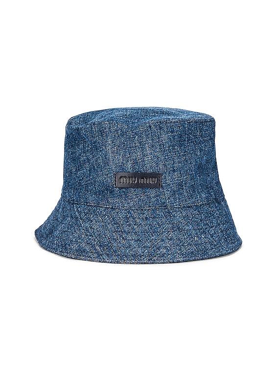 Denim Fisherman Hat in Bleu