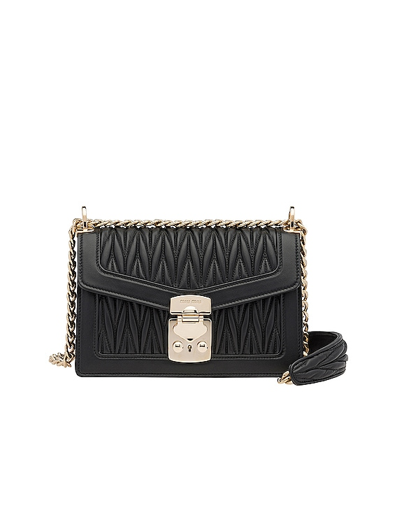 Quilted Leather Bag in Black
