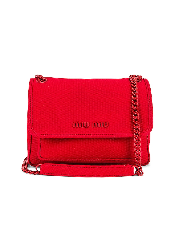 Leather Crossbody Bag in Rosso