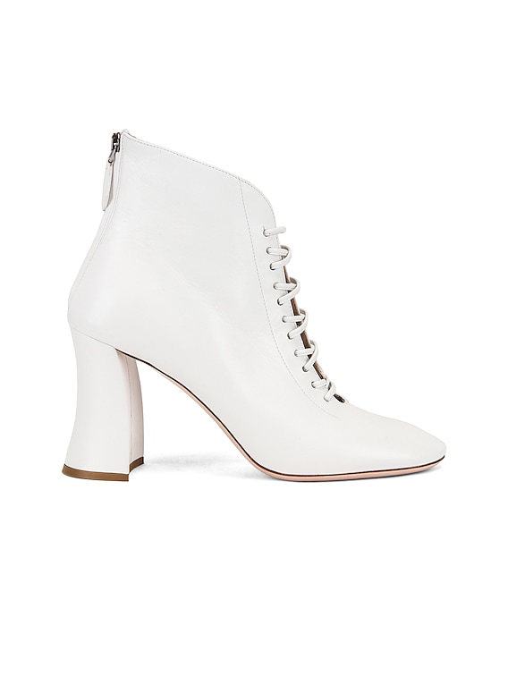 Lace Up Ankle Boots in White