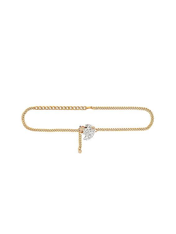 x Ciner Le Jaguar Belt in Gold & White