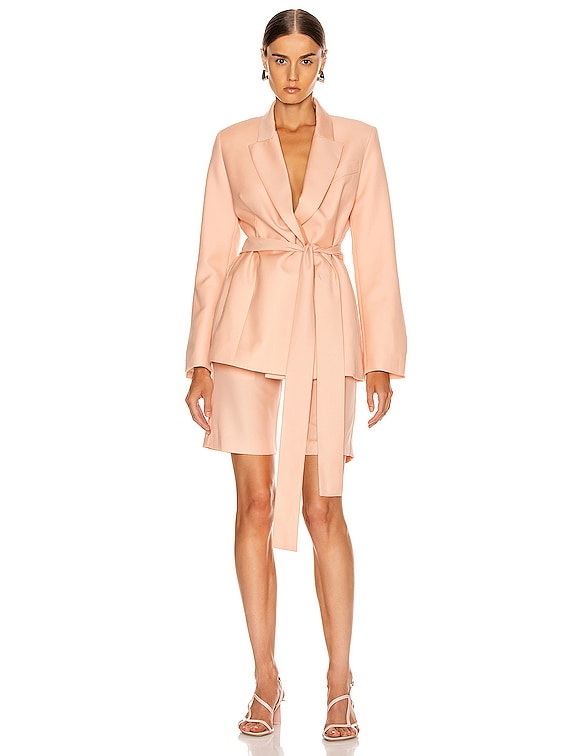 Just Getting Started Blazer in Peach