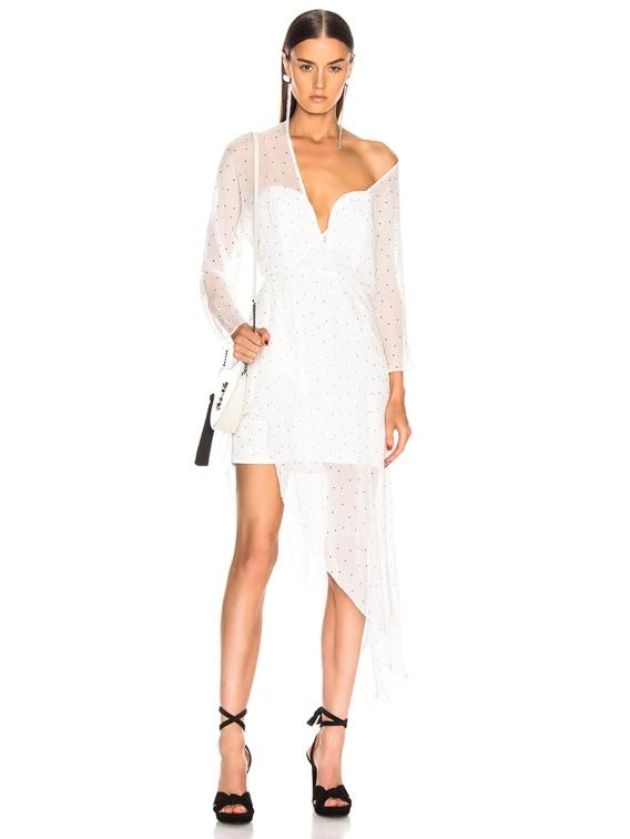 Bustier Off Shoulder Dress in Ivory