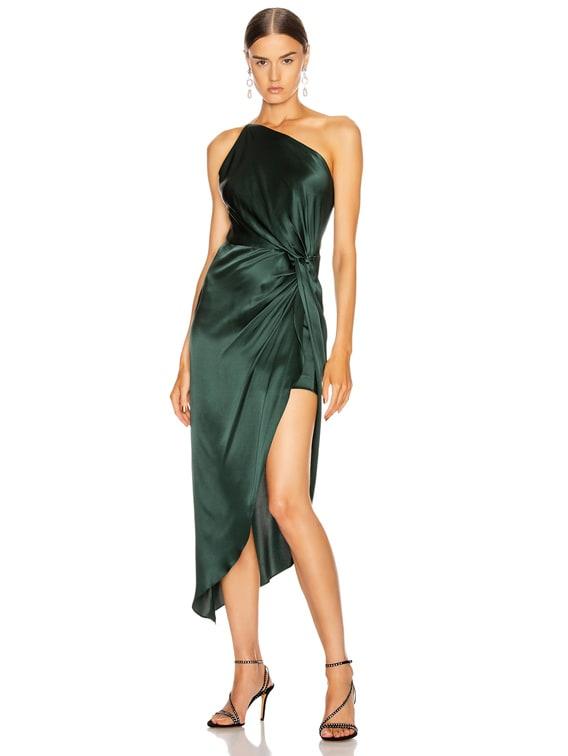 for FWRD Twist Knot Midi Dress in Bottle