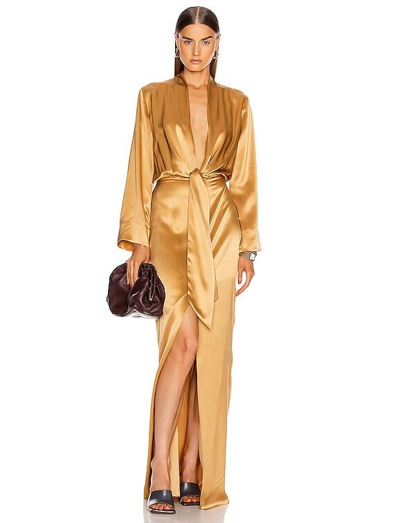 for FWRD Kimono Tie Gown in Honey