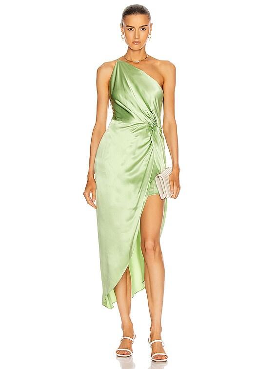 for FWRD Twist Knot Midi Dress in Pistachio