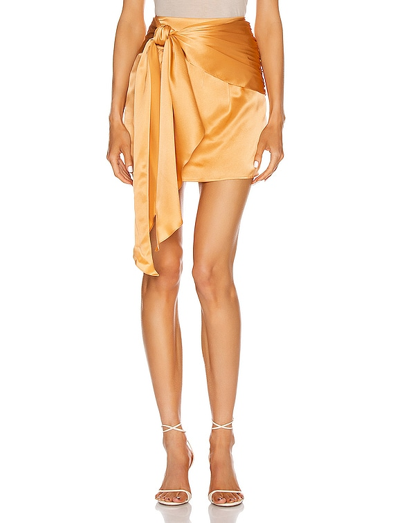 for FWRD Mini Sash Skirt in Apricot