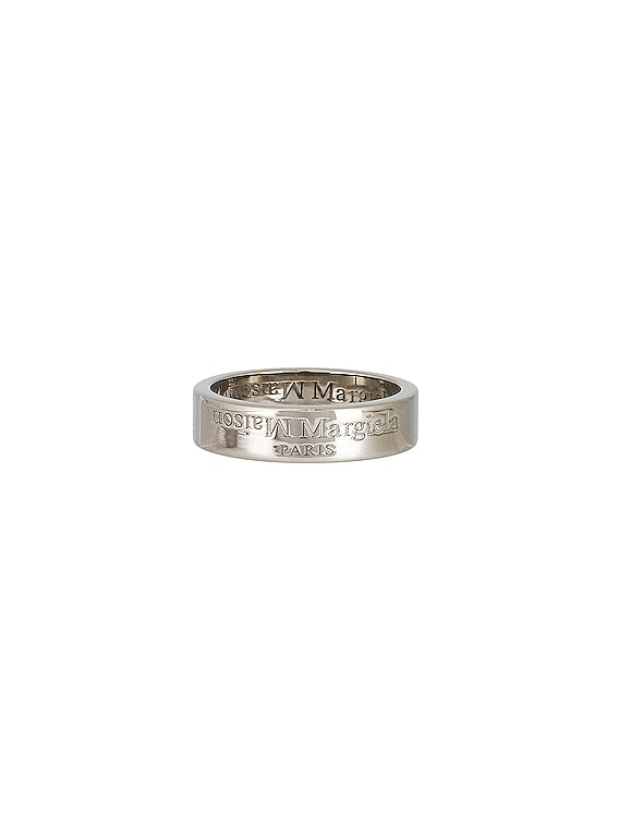 Logo Ring in All Palladio Polished