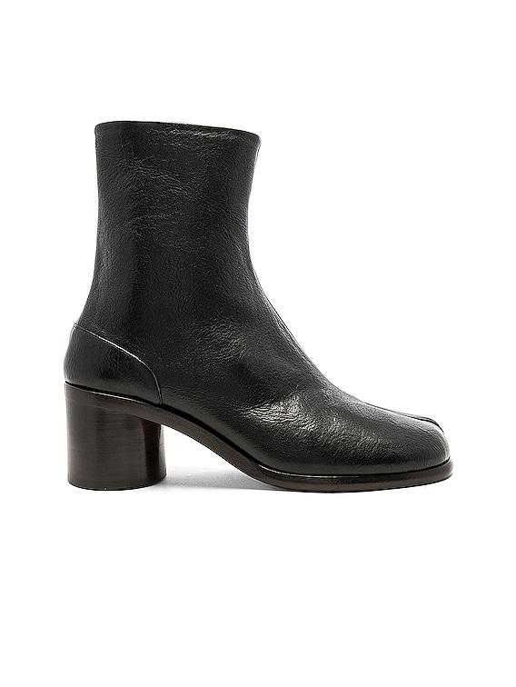 Light Brushed Tabi Boot in Black