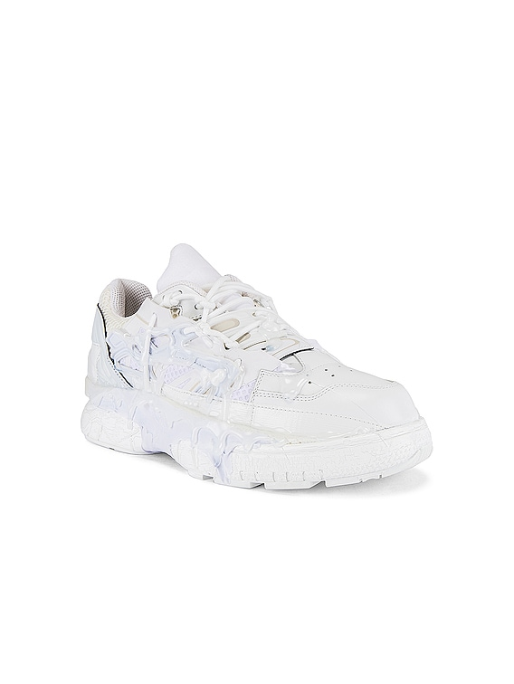 Fusion Low Top in White Mix
