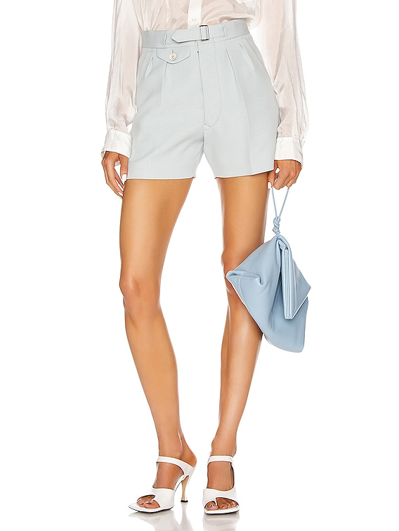 Tailored Belted Short in Pale Blue
