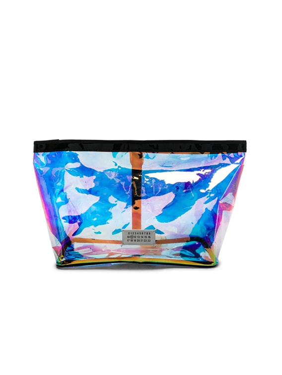 Medium Holographic Pouch in Multicolor & Black