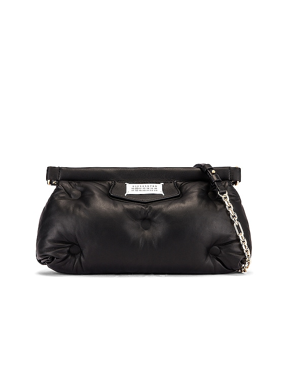 Glam Slam Chain Crossbody Bag in Black