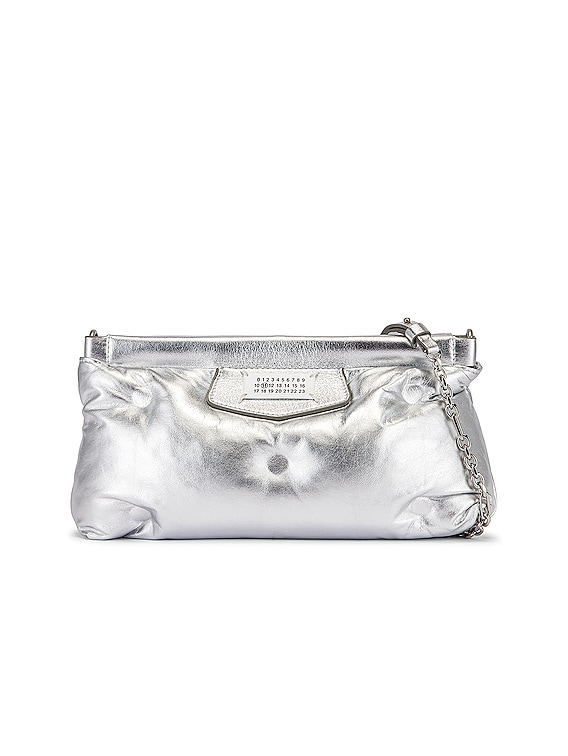 Glam Slam Chain Crossbody Bag in Silver