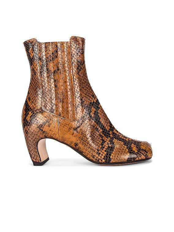 Tabi Python Boots in Cognac & Black