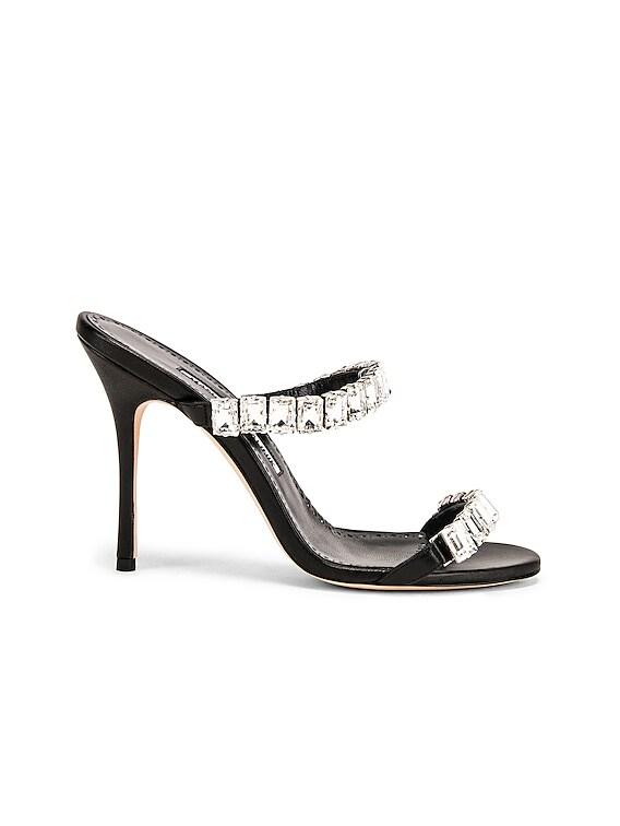 Dallitre 105 Sandal in Nero Nappa