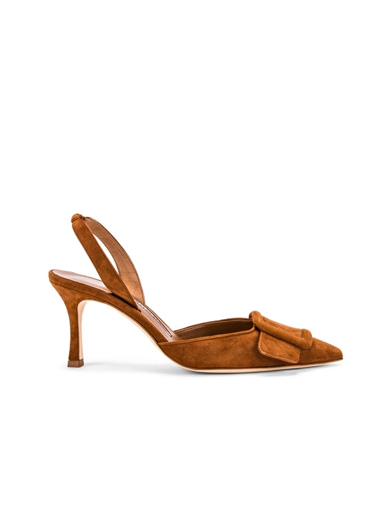 May 70 Suede Slingback in Luggage