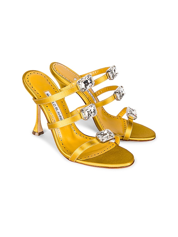 Nudosa 105 Satin Mule in Dark Yellow