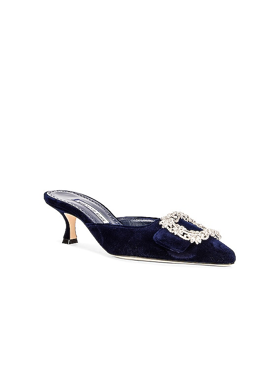Maysale Jewel 50 Mule in Navy