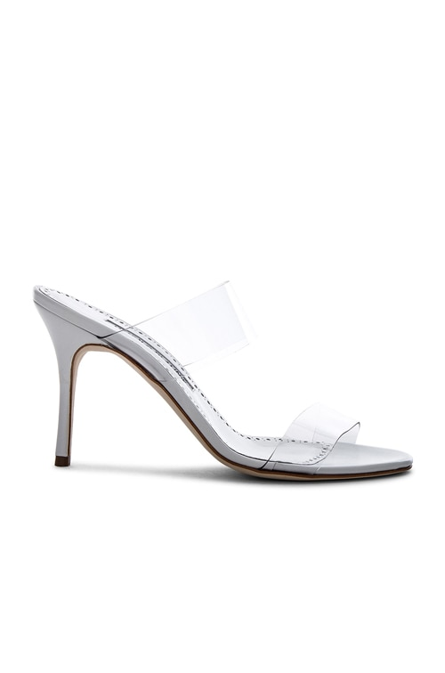 PVC Scolto Sandals in White Leather