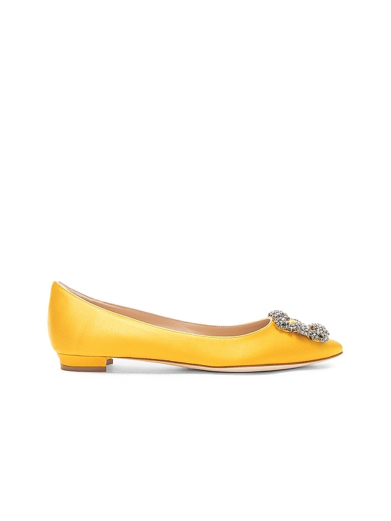 Hangisiflat Satin 10 Pea Flat in Yellow