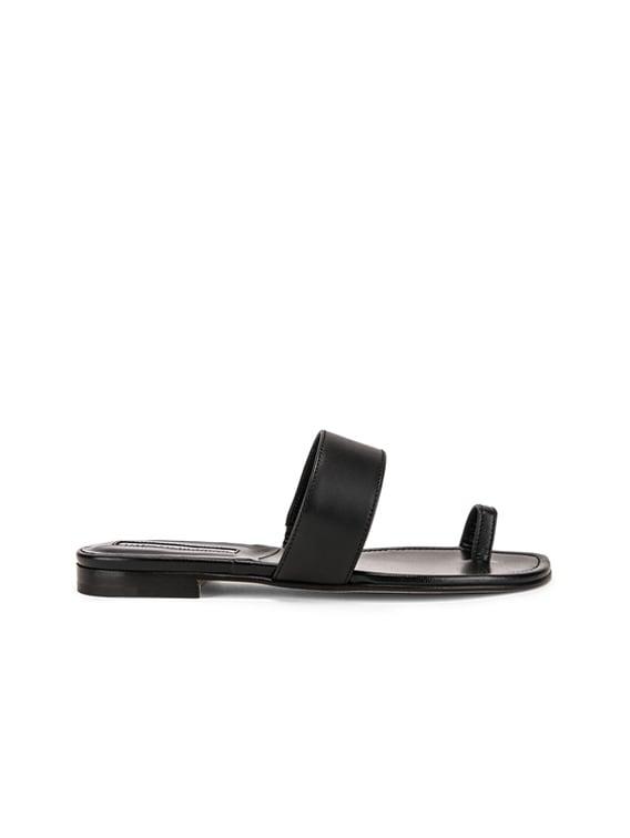 Messen Sandal in Black Calf
