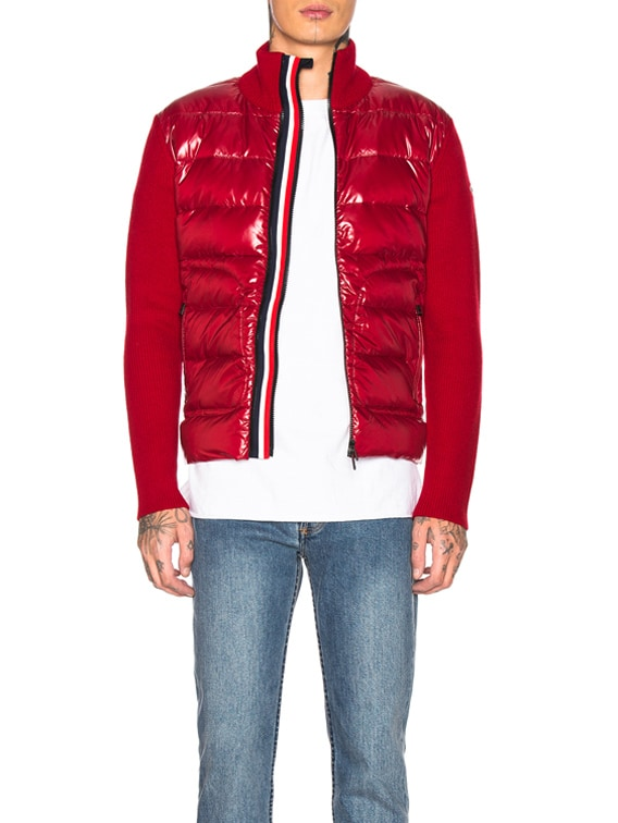 Bubble Track Jacket in Red