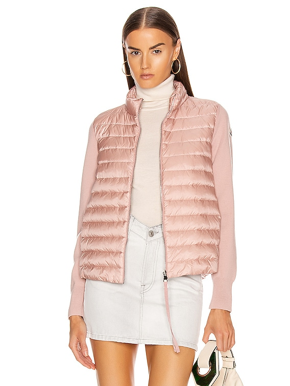 Cardigan Tricot Jacket in Blush